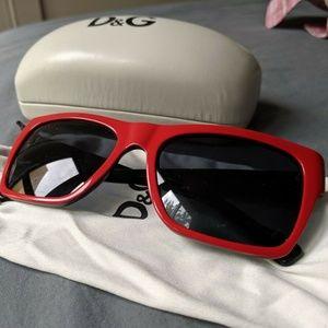 Dolce & Gabbana Red & Black Sunglasses Unisex